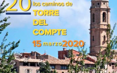 Inscripciones Marcha Senderista Torre del Compte 2020